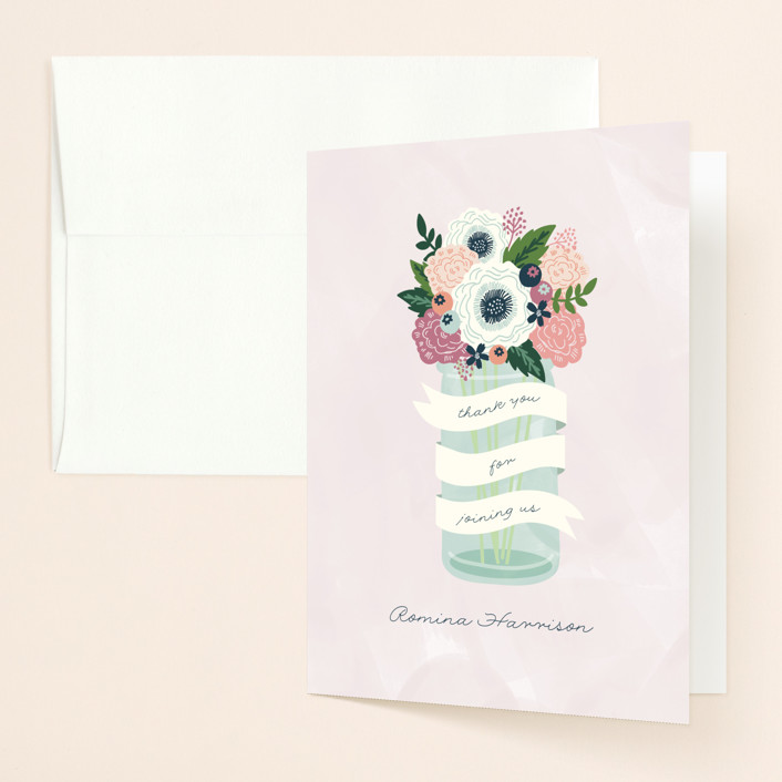 """Sweet bouquet"" - Bridal Shower Thank You Cards in Spring by iamtanya."