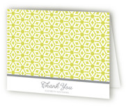This is a citrine bridal shower thank you card by Guess What Design Studio called Elegantly Simple with standard printing on strathmore in standard.