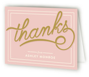This is a strawberry bridal shower thank you card by GeekInk Design called Bubbly Brunch with standard printing on strathmore in standard.