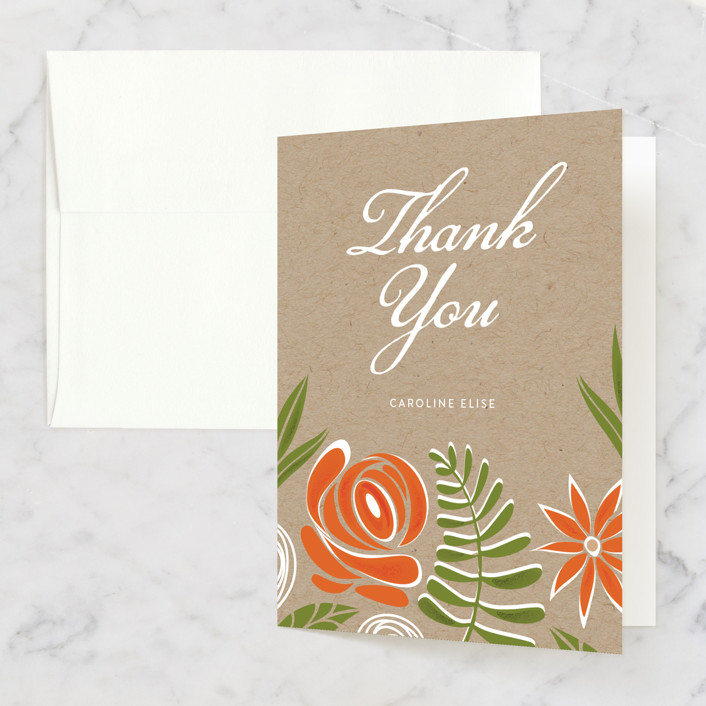 """Southern Krafted"" - Bridal Shower Thank You Cards in pink by That Girl Press."