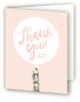 This is a pink bridal shower thank you card by Itsy Belle Studio called Garden Balloon with standard printing on strathmore in standard.