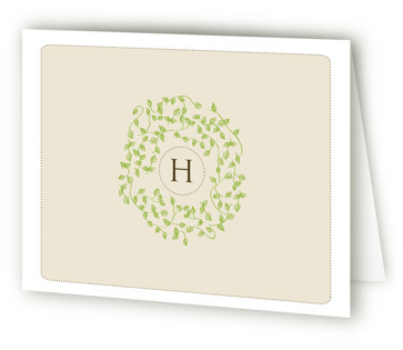 A Bride Wreath Bridal Shower Thank You Cards
