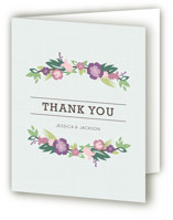 This is a deep teal bridal shower thank you card by Kristen Smith called Tropical Branches with standard printing on strathmore in standard.