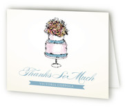 This is a blueberry bridal shower thank you card by Penelope Poppy called Sweet n' Chic with standard printing on strathmore in standard.