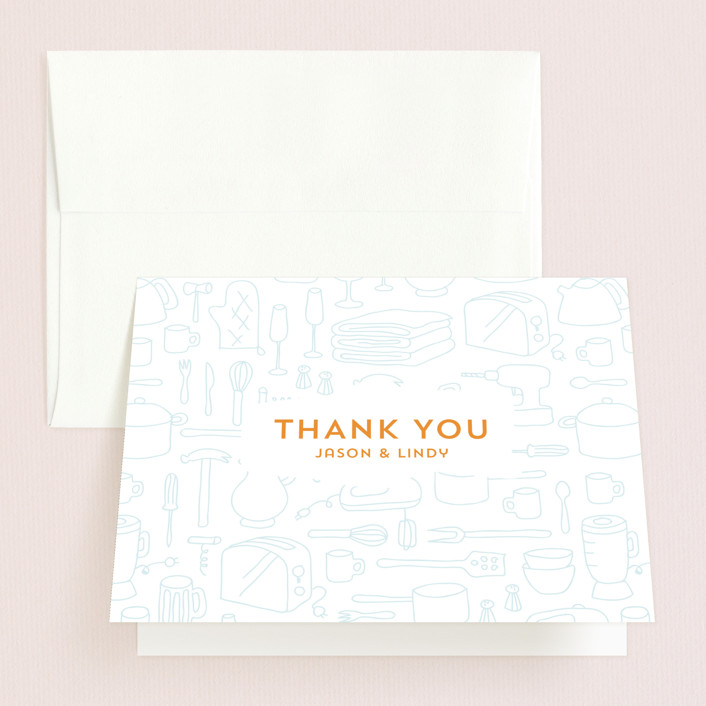 """""""Every Little Thing"""" - Bridal Shower Thank You Cards in orange 