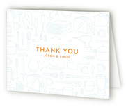 This is a tangerine bridal shower thank you card by Laura Hankins called Every Little Thing with standard printing on strathmore in standard.