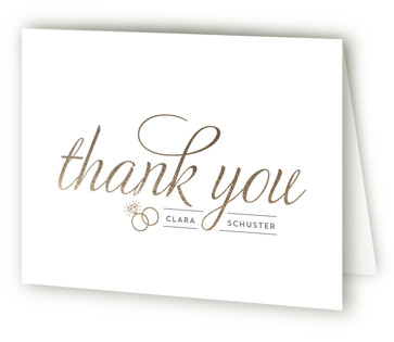 Golden Bride Bridal Shower Thank You Cards