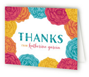 This is a blue bridal shower thank you card by Hooray Creative called Fiesta! with standard printing on strathmore in standard.