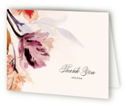 This is a purple bridal shower thank you card by Olivia Kanaley Inman called Grecian Floral with standard printing on strathmore in standard.