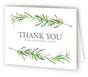 This is a green bridal shower thank you card by Erin Deegan called Simple Sprigs with standard printing on strathmore in standard.
