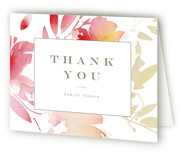 This is a pink bridal shower thank you card by Lori Wemple called Stately Florals with standard printing on strathmore in standard.