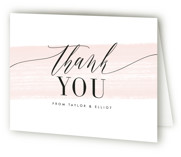 This is a pink bridal shower thank you card by Kristie Kern called Effervescent with standard printing on strathmore in standard.