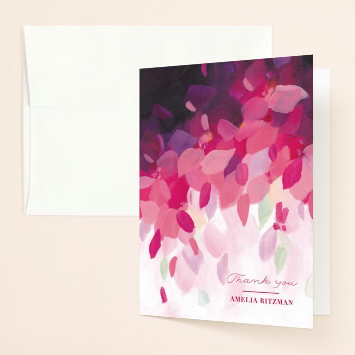 """""""Azalea"""" - Bridal Shower Thank You Cards in Azalea by Holly Whitcomb."""