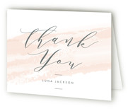 softly brushed Bridal Shower Thank You Cards