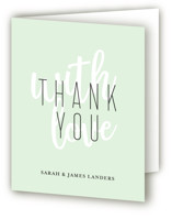 This is a green bridal shower thank you card by Chasity Smith called Modern Bride with standard printing on strathmore in standard.