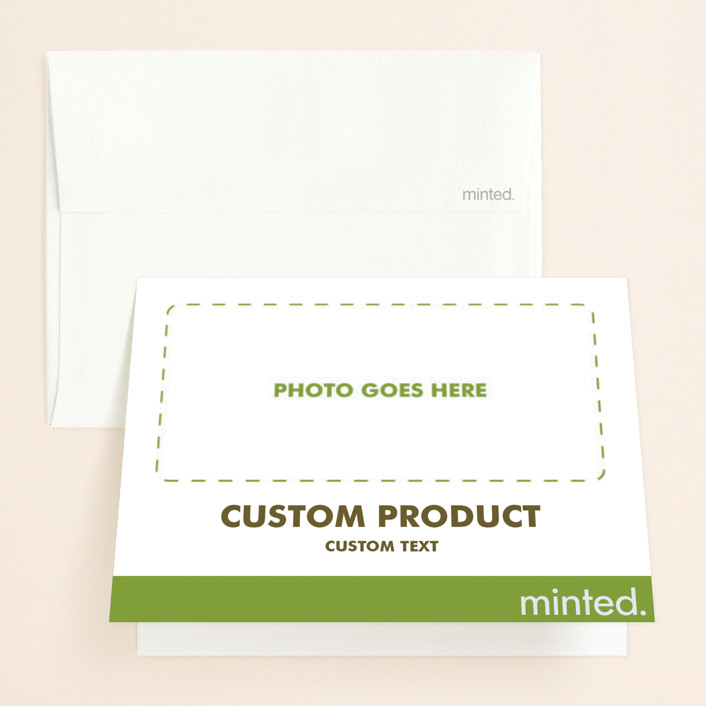 """""""Landscape"""" - Bridal Shower Thank You Cards in Charcoal by Minted Custom."""