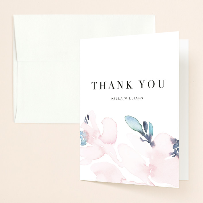 """Florista Modernista"" - Bridal Shower Thank You Cards in Azalea by Petra Kern."