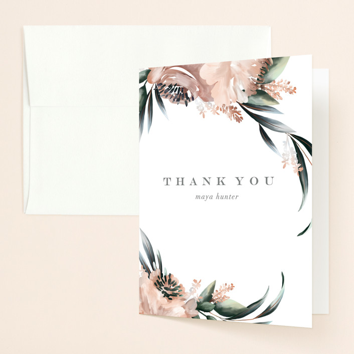 """Maya Rustica"" - Bridal Shower Thank You Cards in Rose by Petra Kern."