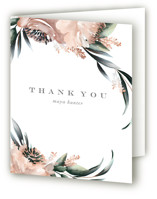This is a green bridal shower thank you card by Petra Kern called Maya Rustica with standard printing on strathmore in standard.