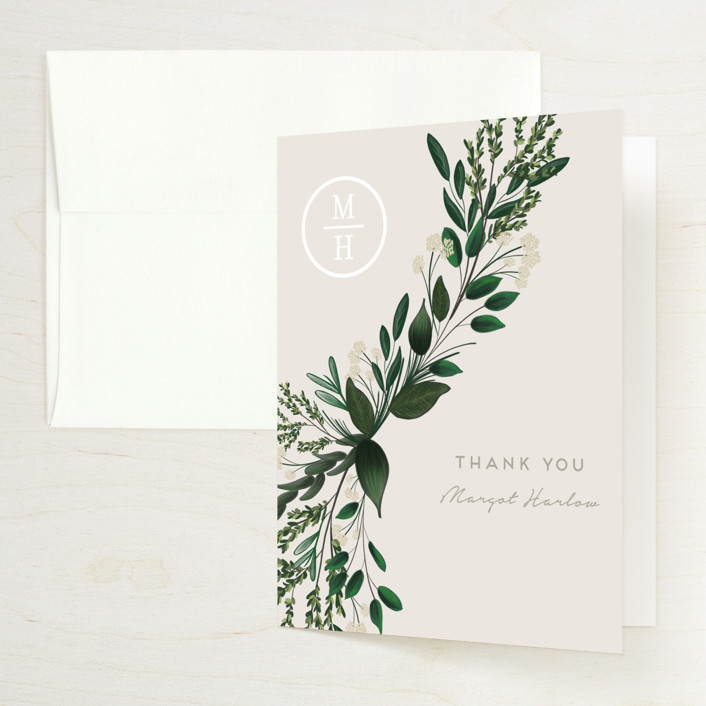 """""""Watermark"""" - Bridal Shower Thank You Cards in Cypress by Kaydi Bishop."""