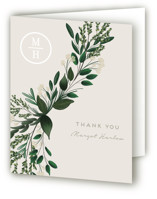 This is a green bridal shower thank you card by Kaydi Bishop called Watermark with standard printing on strathmore in standard.