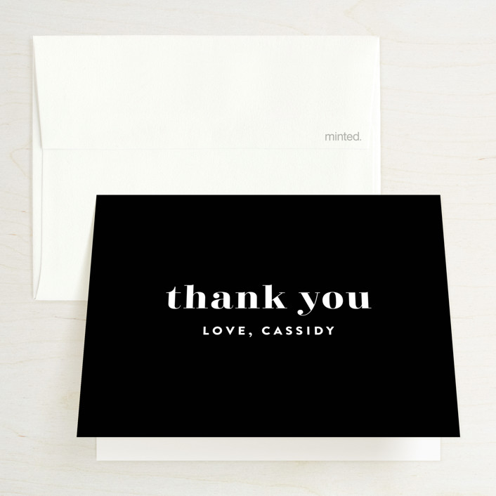 """""""Key Ingredients"""" - Bridal Shower Thank You Cards in Cotton by Christie Garcia."""