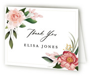 This is a pink bridal shower thank you card by Susan Moyal called Blossom with standard printing on strathmore in standard.