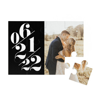This is a black custom puzzle by Baumbirdy called Delightful Date printing on signature in standard.
