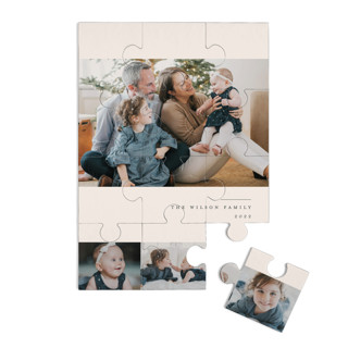 This is a pink custom puzzle by Liz Conley called Holiday Film Strip printing on signature in standard.