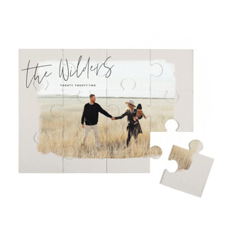 This is a brown custom puzzle by Aaelia Creative Lab. called Nostalgia printing on signature in standard.