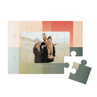 This is a green custom puzzle by Baumbirdy called Gradient Background printing on signature in standard.