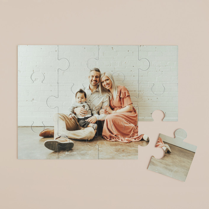 """The Big Picture"" - 12 Piece Custom Puzzle in Cotton by Minted Custom."