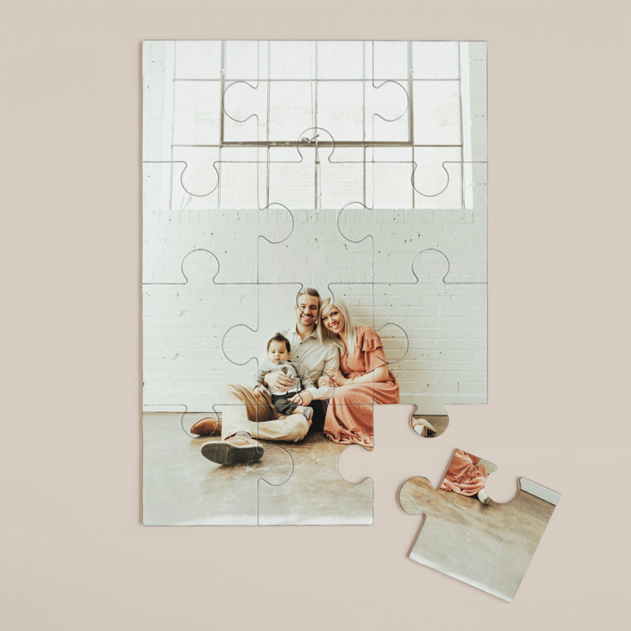 """""""The Big Picture"""" - 12 Piece Custom Puzzle in Cotton by Minted Custom."""