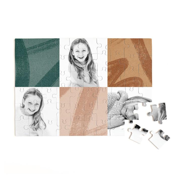 Modern Squares 60 Piece Custom Puzzle
