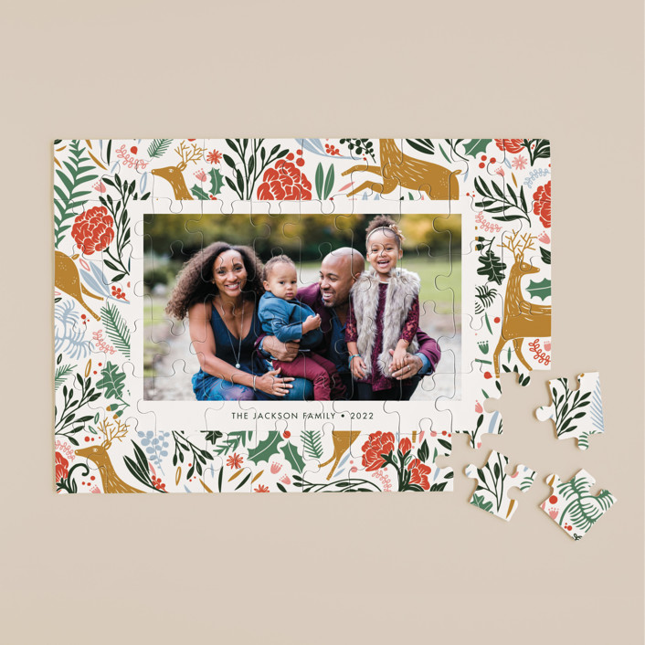 """""""Holiday Forest Photo"""" - Whimsical & Funny, Whimsical & Funny 60 Piece Custom Puzzle in Jour by Made by Mosa."""