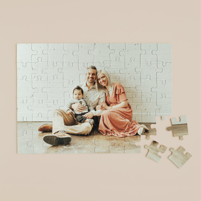 """""""The Big Picture"""" - 60 Piece Custom Puzzle in Cotton by Minted Custom."""