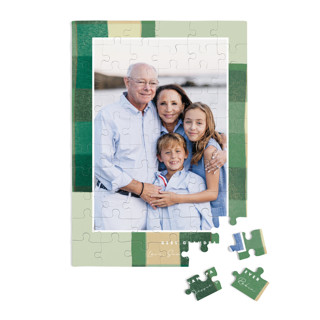 This is a green custom puzzle by Keen Peachy called Warm Flannel printing on signature in standard.