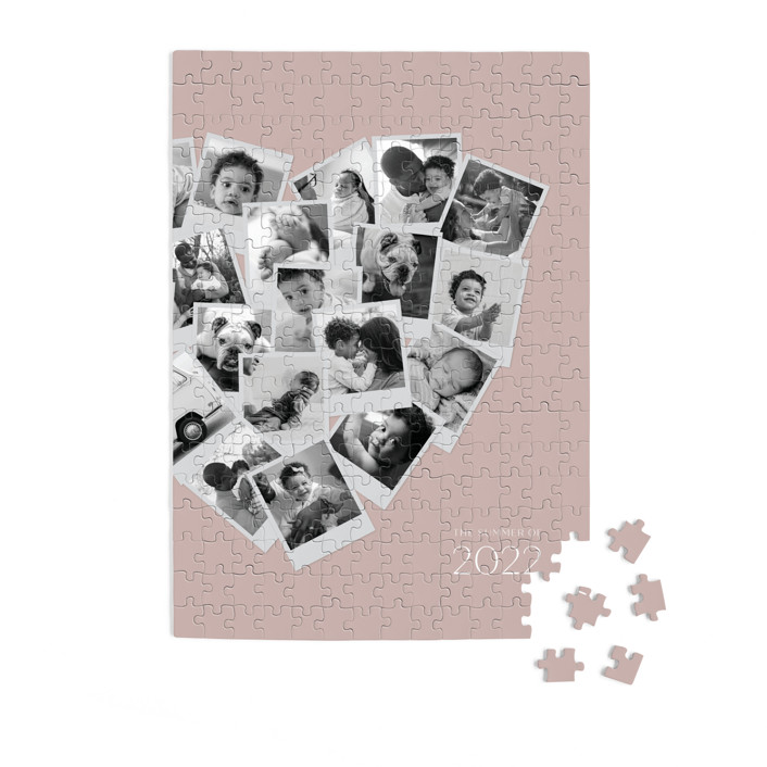 Collage Heart 252 Piece Custom Puzzle