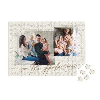 This is a brown custom puzzle by That Girl Press called Snapshots printing on signature in standard.
