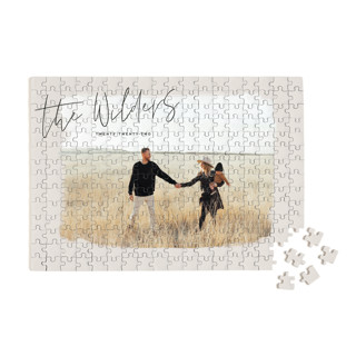 This is a brown custom puzzle by Aaelia Creative Lab. called Nostalgia printing on signature.