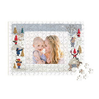 This is a grey custom puzzle by Morgan Ramberg called A Little Cheer printing on signature.