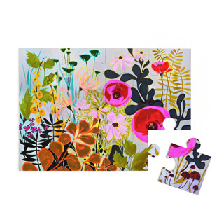 This is a blue puzzle by Jess Franks called How Does Your Garden Grow? in standard.