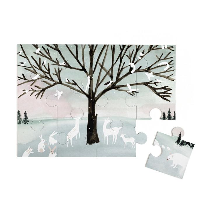 Winter Peace 12 Piece Art Puzzle