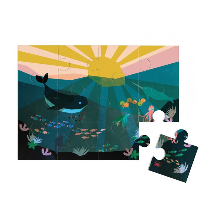 Underwater Sunset 12 Piece Art Puzzle