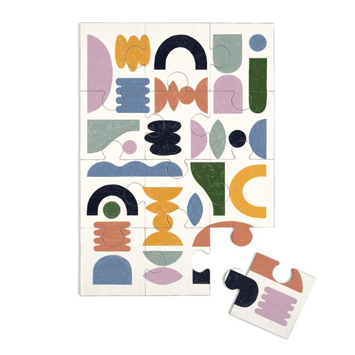 Mid-century 12 Piece Art Puzzle