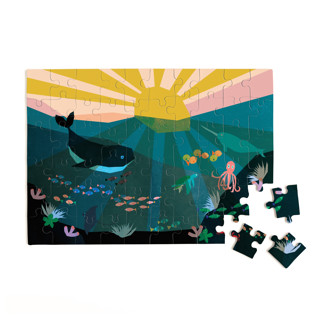 This is a blue puzzle by Morgan Kendall called Underwater Sunset.
