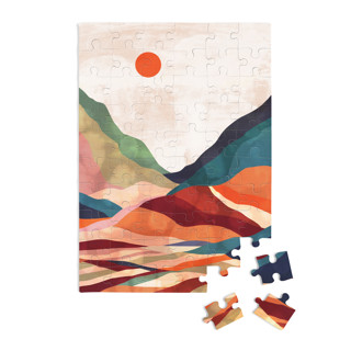 This is a orange puzzle by Mojca Dolinar called Autumn landscape.