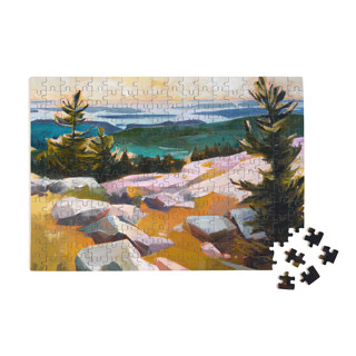 This is a blue puzzle by Jess Franks called In the Heights.