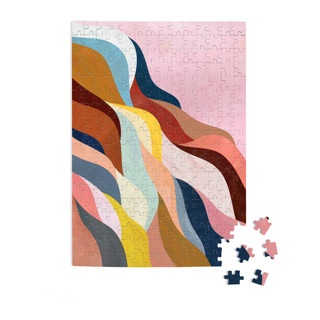 This is a pink puzzle by melanie mikecz called Natural Fluctuation in standard.