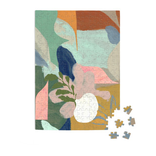 This is a blue puzzle by cyrille gulassa called Birthday Bouquet in standard.